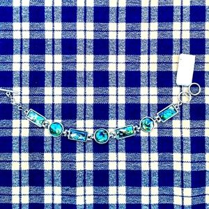 NWT Handcrafted Paua Link Toggle Bracelet